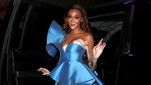 Винни Харлоу покорила сеть платьем цвета голубого неба: фото с вечеринки