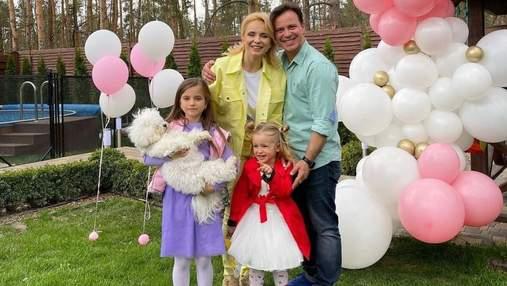 Лилия Ребрик показала яркие семейные фото с празднования 3-летия младшей дочери