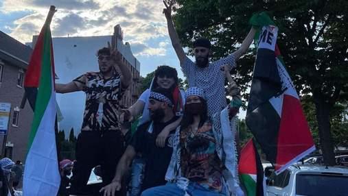 Белла Хадід взяла участь у мітингу на підтримку Палестини у конфлікті з Ізраїлем