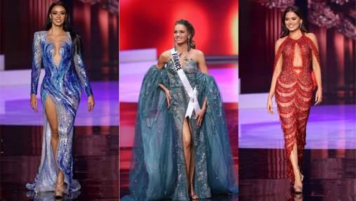 """Відверті декольте та пікантні розрізи: найгарячіші сукні """"Міс Всесвіт-2020"""""""