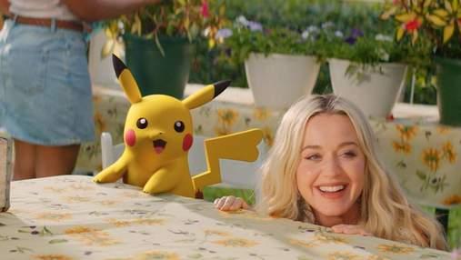 К 25-летию покемонов: Кети Перри выпустила клип с Пикачу – видео