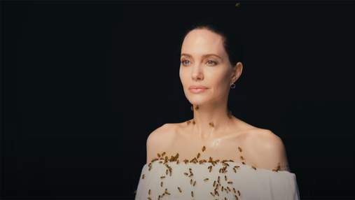 Анджелина Джоли снялась с пчелами на лице и теле: смелый фотопроект