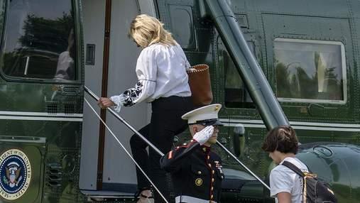 Джилл Байден з'явилася у вишиванці: фото чарівного виходу