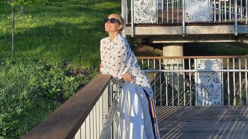 Вагітна Катя Осадча влаштувала прогулянку весняним Києвом: чарівні фото