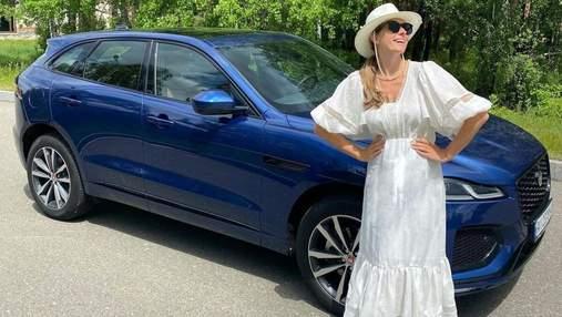 Вагітна Катя Осадча показала стильний літній образ у сукні: фото