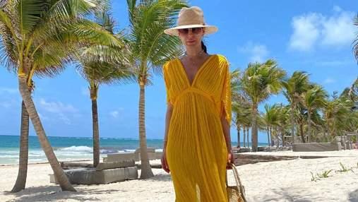Маша Ефросинина повторила образ с платьем, которое надевала несколько лет назад: фото