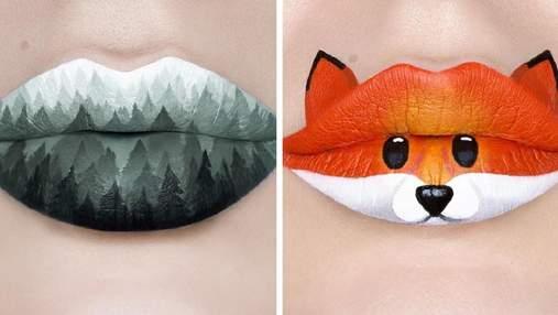 Не просто помада: візажистка створює справжні картини на власних губах – фото