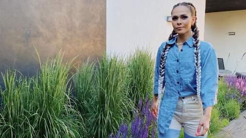Юлия Санина восхитила трендовым образом в джинсовом костюме: яркое фото
