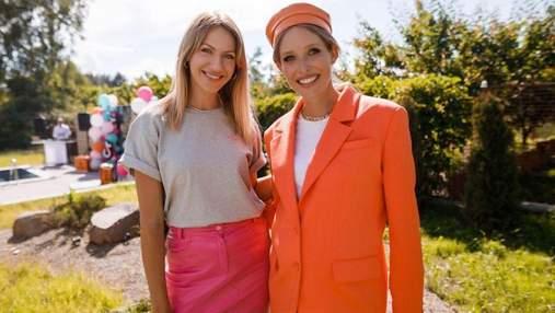 Вагітна Катя Осадча приголомшила яскравим образом у помаранчевому піджаку: фото