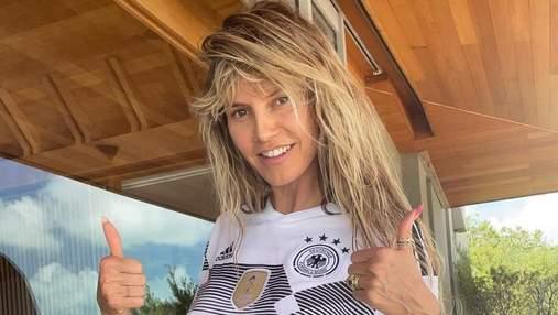 Хайди Клум обнажила грудь, чтобы поддержать сборную Германии на Евро-2020