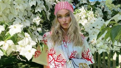 Икона стиля Эльза Хоск надела трендовый головной убор лета – платочек: стильный аутфит