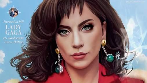 В образе заказчицы убийства Гуччи: Леди Гага появилась на обложке глянца Madame