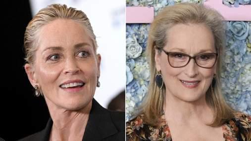 """""""В Голлівуді є більш талановиті актриси"""": як Шерон Стоун прокоментувала талант Меріл Стріп"""