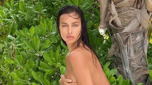 Ірина Шейк позувала з оголеними грудьми й на підборах: гаряче фото 18+