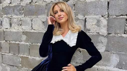 Леся Никитюк показала безупречный образ в кукольном платье: фото