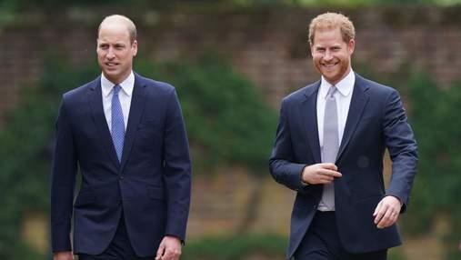 Принци Гаррі та Вільям возз'єднались: у Лондоні відкрили пам'ятник принцесі Діані