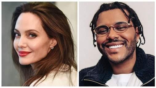 Анджелину Джоли застали на свидании с The Weeknd