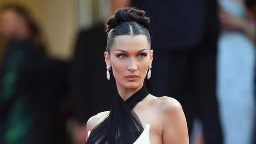 Белла Хадід замилувала ніжним образом на Каннському фестивалі в сукні Jean Paul Gaultier