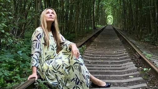 Ольга Сумская с дочерью побывала в Туннеле любви: красивые фото