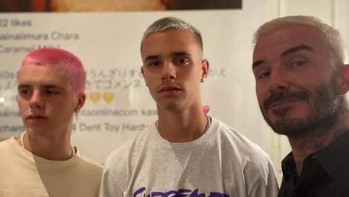 Дэвид Бекхэм с сыновьями перекрасили волосы: как отреагировала Виктория Бекхэм