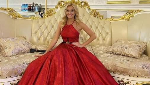 Ирина Федишин пришла на свадьбу в красном помпезном платье: фото стильного аутфита