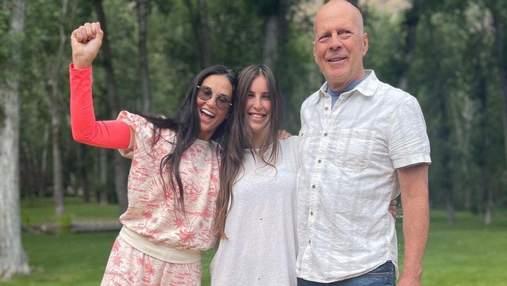 Дочь Брюса Уиллиса и Деми Мур ярко отпраздновала 30-летие с родителями