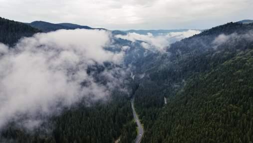 """У мережі показали, як Чорногору """"омивають"""" хвилі хмар: чарівне відео карпатського """"моря"""""""