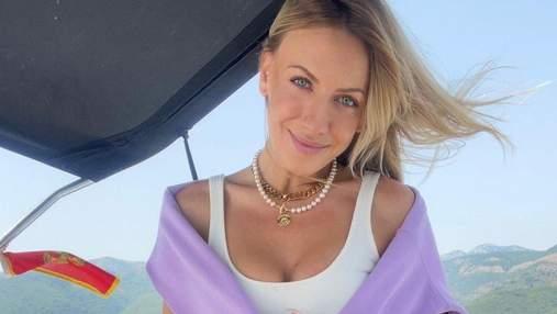 Леся Никитюк очаровала летним образом в шортах с вышивкой: фото