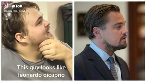Парень заснял двойника Леонардо Ди Каприо: пользователи поражены сходством