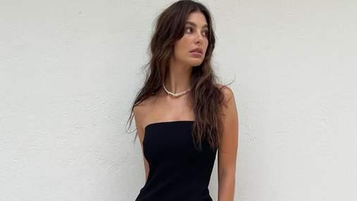 Дівчина Леонардо Ді Капріо позувала у чорній мінімалістичній сукні: елегантні фото