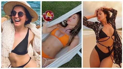 Дорофеева, Цыбульская и Каменских продемонстрировали самые модные купальники сезона