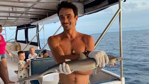 Чоловік Катерини Кухар врятував акулу: фото та відео з Мальдівів