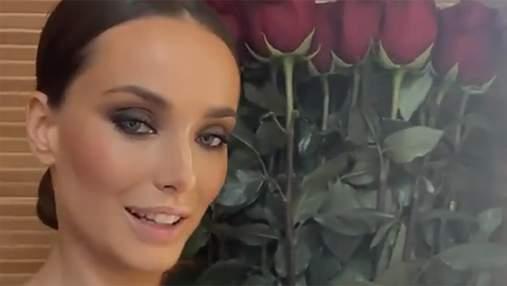 У річницю стосунків з Еллертом: Ксенія Мішина похизувалась величезним букетом троянд