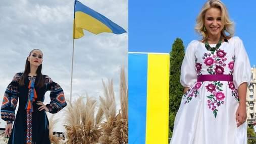 Українські зірки вітають з Днем Державного Прапора: промовисті фото