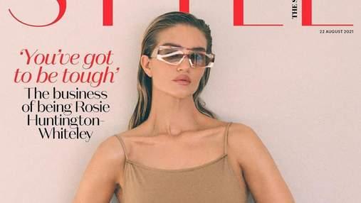 Рози Хантингтон-Уайтли появилась на обложке глянца Style: волшебные кадры