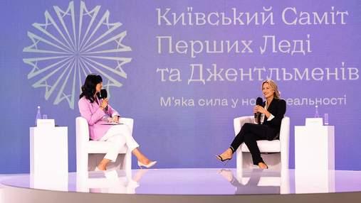 Маша Єфросиніна одягнула на саміт перших леді та джентльменів бузковий жакет the COAT: фото