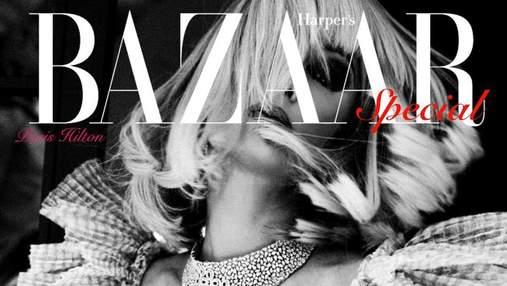 Пэрис Хилтон появилась на обложке глянца в мини-платье за 56 тысяч гривен