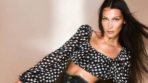 Белла Хадід показує, які чорні джинси будуть в моді восени: ефектні образи