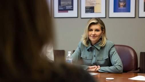Олена Зеленська приїхала на робочу зустріч в стильному костюмі: нові фото з США