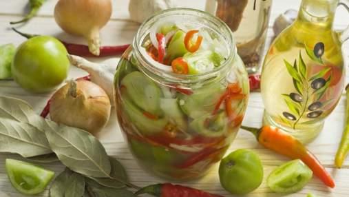 Домашні заготовки: салат із зелених помідорів на зиму