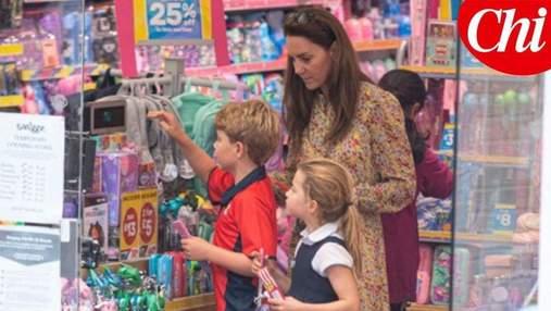Вперше за 2 місяці: Кейт Міддлтон з дітьми побувала в магазині