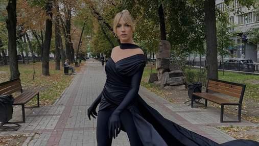 Леся Нікітюк повторила образ Кардашян: фото в костюмі total black і неоднозначна реакція фанів