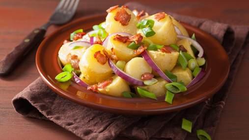 Отдельный перекус или гарнир – решать вам: теплый салат из картофеля и бекона