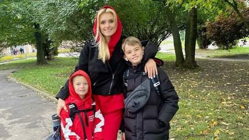 Ирина Федишин рассказала, как собирает сыновей в школу