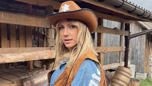 Леся Никитюк покорила стильным ковбойским образом: эффектные фото