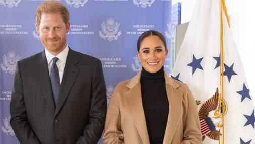 Меган Маркл и принц Гарри прибыли на деловую встречу в Нью-Йорке: фото пары