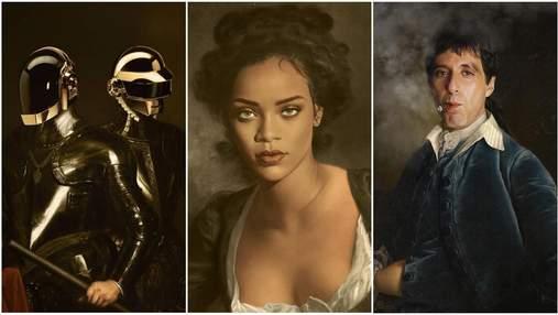 Рианна и Бейонсе: художник превращает современных знаменитостей в героев классических картин