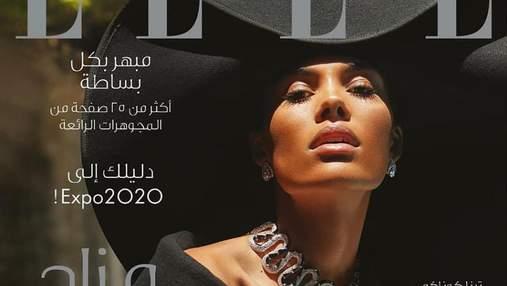 Тіна Кунакі приміряла бездоганне вбрання для обкладинки в арабському Elle: стильні образи