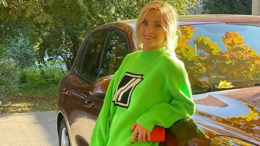 Ірина Федишин приголомшила яскравим образом у салатовому светрі: фото співачки