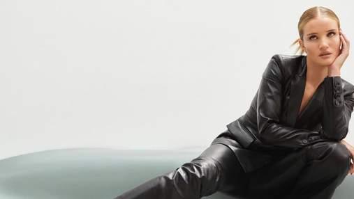 Розі Гантінгтон-Вайтлі позує у розкішному шкіряному костюмі: ефектні кадри